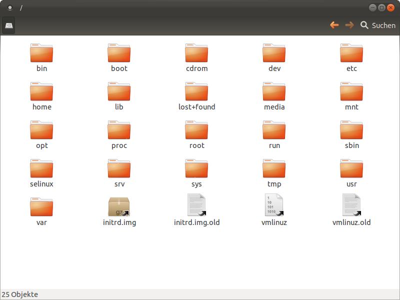 Dateisystem Struktur