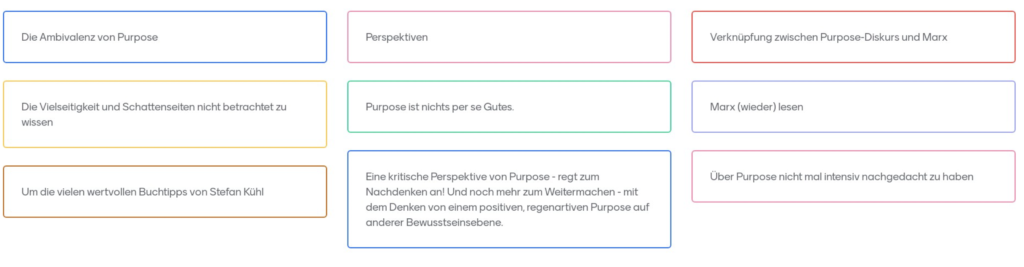 Ergebnisse Tacheles reden #01 - Purpose_01
