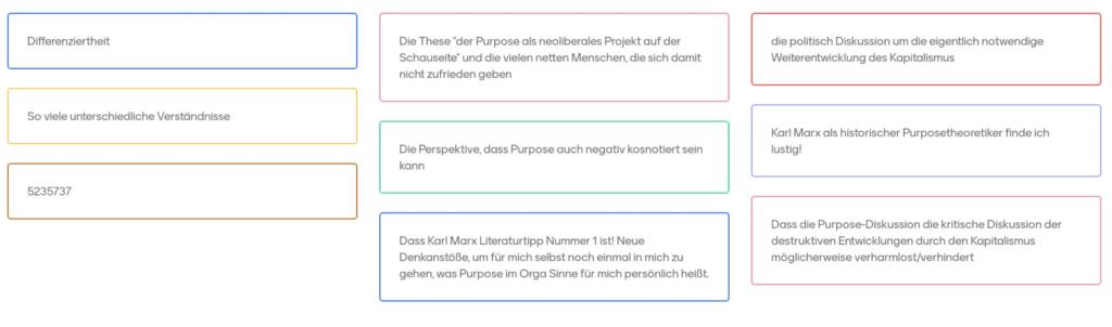 Ergebnisse Tacheles reden #01 - Purpose_02