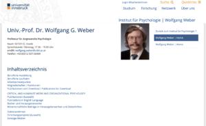 Prof. Dr. Wolfgang Weber, der auch fundiert zu organisationaler Gerechtigkeit arbeitet