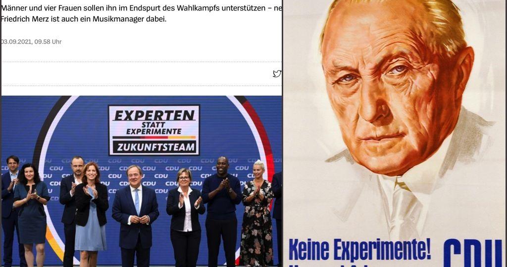 Wahlwerbung Keine Experimente